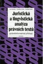 Juristická a lingvistická analýza právních textů (právněinformatický přístup)