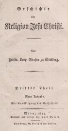Geschichte der Religion Jesu Christi. Neue Ausgabe. DritterTheil.