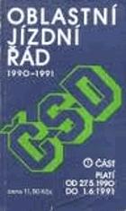 Oblastní jízdní řád ČSD 1990-1991 (1.)