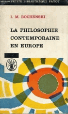 La Philosophie contemporaine en Europe