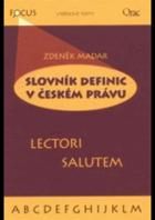 Slovník definic v českém právu