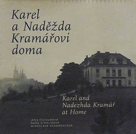 Karel a Naděžda Kramářovi doma. Karel and Nadezhda Kramář at home