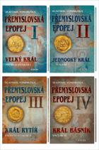 Přemyslovská epopej sv. 1 - 4 KOMPLET! (Velký král Přemysl I. Otakar + Jednooký král Václav ...