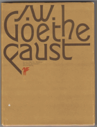 Faust - vybrané scény.  Česko - německé vydání.