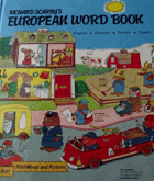 European word book - english, german, french, czech