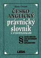 Česko-anglický právnický slovník s vysvětlivkami