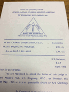 Mother Lodge. No. 1 ORIGINAL DOCUMENT!