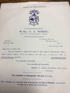 Buckinghamshire Masters Lodge. No. 3305 ORIGINAL DOCUMENT!