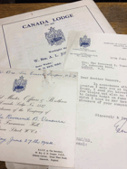 Canada Lodge. No. 3527 ORIGINAL DOCUMENTS!