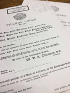 Pilgrim Lodge. No. 238 ORIGINAL DOCUMENTS!