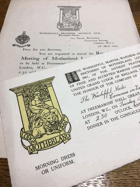Motherland Lodge. No. 3861 ORIGINAL DOCUMENTS!