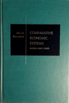 Comparative economic systems - models and cases