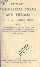 Pitmans Commercial Terms and Phrases in Five Languages