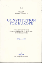 Treaty Establishing a Constitution for Europe