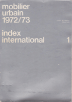 Mobilier urbain 1972/73 - Index international