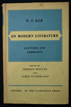 On Modern Literature - Lectures and Addresses