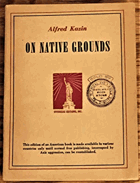 On Native Grounds - Modern American Prose Literature
