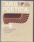 Ars poetica - Z úvah o básnickém umění od starověku po dnešek