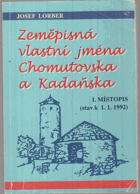 Zeměpisná vlastní jména Chomutovska a Kadaňska