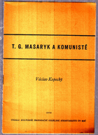 T.G. Masaryk a komunisté
