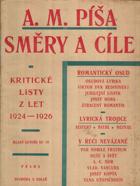 Směry a cíle - kritické listy z let 1924-1926